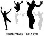 parkour active boy silhouette | Shutterstock . vector #1315198