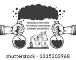 chemical poster  flyer template....   Shutterstock . vector #1315203968