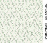 seamless pattern with drawing... | Shutterstock .eps vector #1315204682