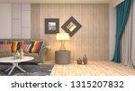 interior of the living room. 3d ... | Shutterstock . vector #1315207832