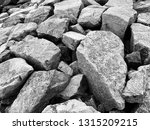 Stone Shore And Waves Of The...