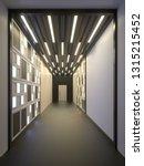 hallway interior with lamella... | Shutterstock . vector #1315215452