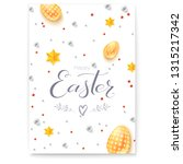 easter decorative poster with... | Shutterstock .eps vector #1315217342