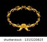 gold baroque ornament  frame | Shutterstock .eps vector #1315220825
