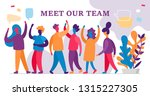 young people team communication ... | Shutterstock .eps vector #1315227305