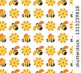 honey and bees  beekeeper... | Shutterstock .eps vector #1315239818