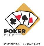 casino poker club gambling... | Shutterstock .eps vector #1315241195