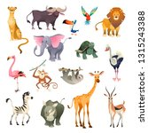 jungle wild animals. savannah... | Shutterstock .eps vector #1315243388