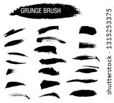 vector set of grunge brush... | Shutterstock .eps vector #1315253375