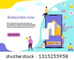 colorful email subscribe vector ...