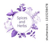 vector spices and herbs in the... | Shutterstock .eps vector #1315258478