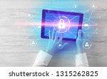 hand touching online network... | Shutterstock . vector #1315262825