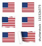 usa flag set | Shutterstock .eps vector #131526575