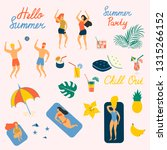 hello summer vector...   Shutterstock .eps vector #1315266152