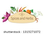 vector spices and herbs | Shutterstock .eps vector #1315271072