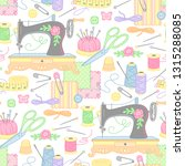 tools and objects for sewing... | Shutterstock .eps vector #1315288085
