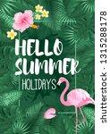 hello summer tropical welcome... | Shutterstock .eps vector #1315288178