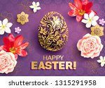 easter greeting card with... | Shutterstock .eps vector #1315291958
