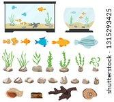 Aquarium Underwater Vector...