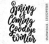 spring is coming goodbye winter.... | Shutterstock .eps vector #1315295585