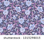 fantasy blue flowers at folk... | Shutterstock .eps vector #1315298015