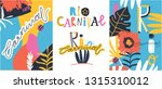 creative bright set of brazil... | Shutterstock .eps vector #1315310012