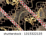 Chain And Geometric Border With ...