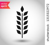 wheat vector icon. agriculture... | Shutterstock .eps vector #1315322972