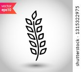 wheat vector icon. agriculture... | Shutterstock .eps vector #1315322975
