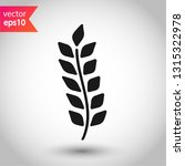wheat vector icon. agriculture... | Shutterstock .eps vector #1315322978