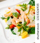 fresh salad plate with shrimp ... | Shutterstock . vector #1315326935