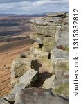 rocky escarpment at stanage... | Shutterstock . vector #1315332812