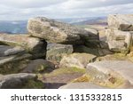 rocky escarpment at stanage... | Shutterstock . vector #1315332815