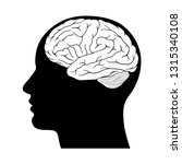 human head silhouette with... | Shutterstock .eps vector #1315340108