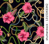 seamless summer pattern with... | Shutterstock .eps vector #1315343342