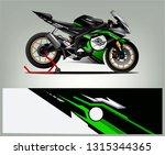 Sport Bike Wrap Design Vector....