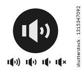 speaker symbol  sound volume... | Shutterstock .eps vector #1315347092