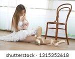 pretty girl ballet dancer... | Shutterstock . vector #1315352618