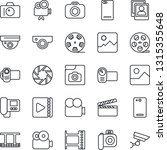 thin line icon set   camera... | Shutterstock .eps vector #1315355648