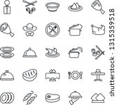 thin line icon set   spoon and... | Shutterstock .eps vector #1315359518
