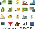 color flat icon set funnel flat ... | Shutterstock .eps vector #1315360358