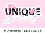 trendy slogan for t shirt.... | Shutterstock .eps vector #1315360715
