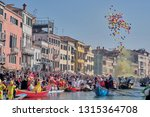 venice carnival 2019 the water...   Shutterstock . vector #1315364708