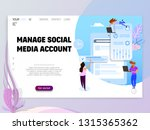 manage social media account  ... | Shutterstock .eps vector #1315365362