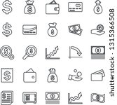 thin line icon set   credit... | Shutterstock .eps vector #1315366508