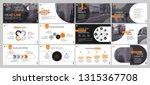 presentation template. orange... | Shutterstock .eps vector #1315367708