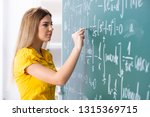 young female student in front... | Shutterstock . vector #1315369715