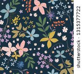 modern floral hand drawn... | Shutterstock .eps vector #1315377722