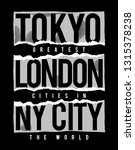 tokyo  london  new york cities... | Shutterstock .eps vector #1315378238
