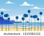 summer sunny tropical... | Shutterstock .eps vector #1315382132